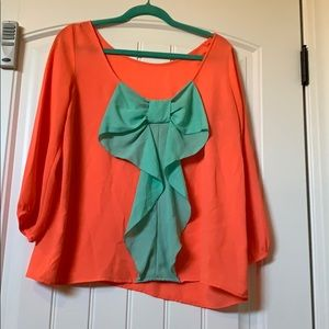 Medium Boutique Bow Back Blouse